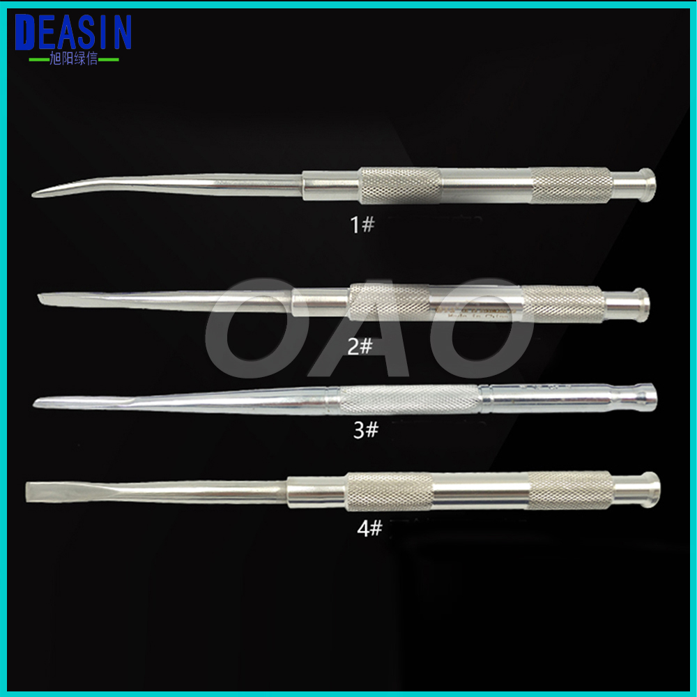 4Pcs Dental Implant Instruments tools Dental Tool Stainless steel dental chisel tooth bone knife bone chisel 8pcs set high quality dental instruments implant flap periosteal separator periosteal stripping child