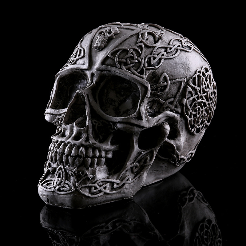 Hot Human Skull Model Theme Interior Decoration Resin Skull Halloween Medical Mold, Bar Decoration Skull
