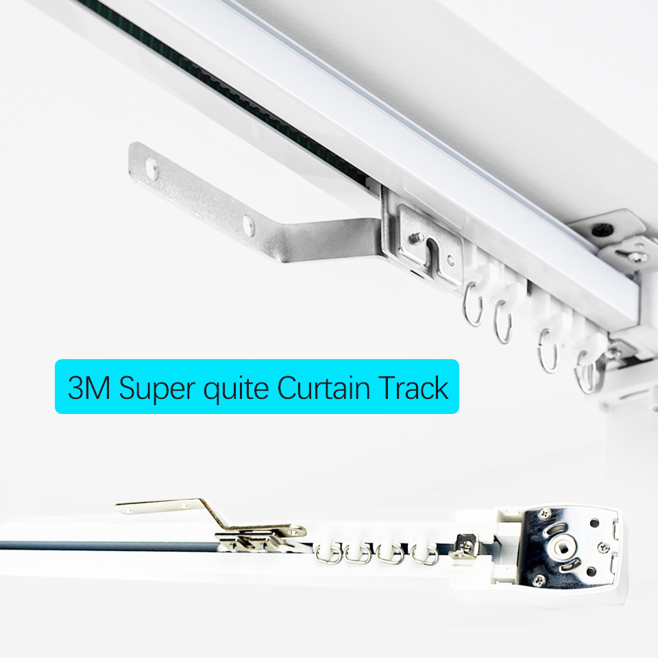 3m High quality Electric Curtain track for Xiaomi MiJia aqara motor Super quite Curtain track for