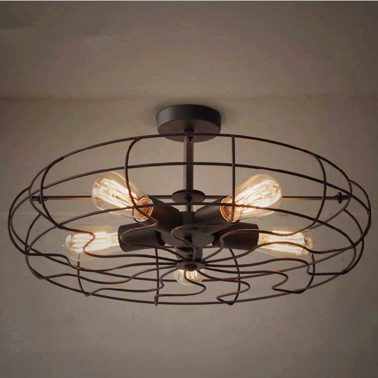 Charmant Loft RH American Country Style Creative Personality Industrial Designer  Light Industrial Ceiling Fan Wind 5 On Aliexpress.com | Alibaba Group