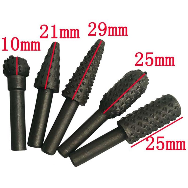 Werkzeuge 5 Stücke Stahl Präge Rotary Grate Raspel Datei Holz Schleifen Bits Holzbearbeitung Werkzeug Holz Gravur Cutter