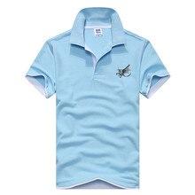 New Polo shirt brand men short sleeves fashion leisure slim pure color embroidered breathable Polo shirt men lapel business shir недорого