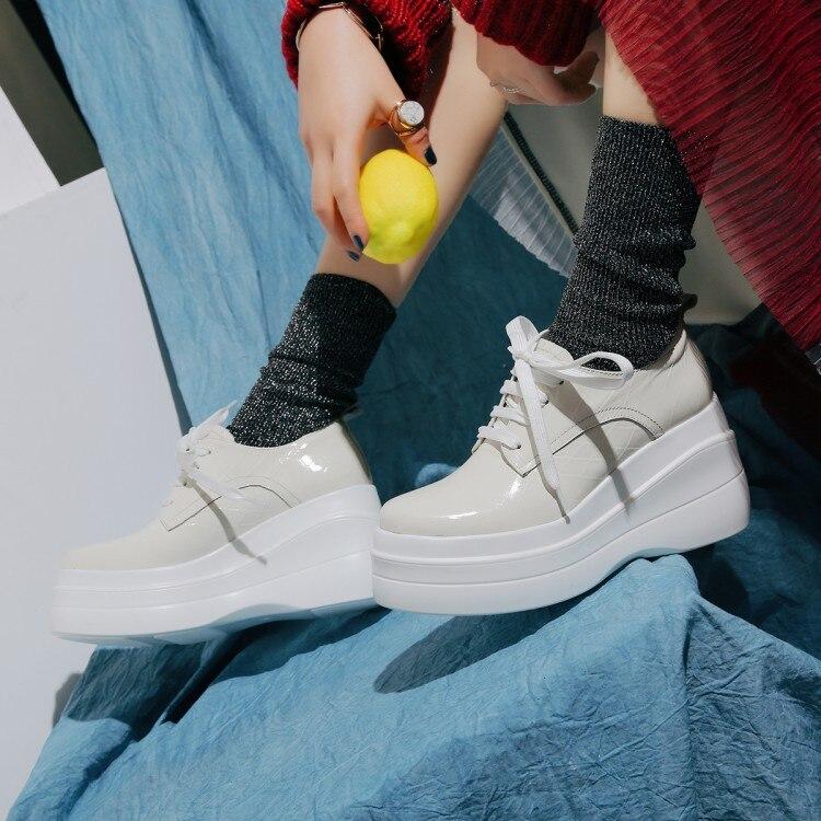 Bombas Zapatos Plataforma Genuino Rosado Ocio Cuero Damas 2018 Cuñas Mujer {zorssar} Encaje blanco Moda Casuales Tacones De nwq7SxHX