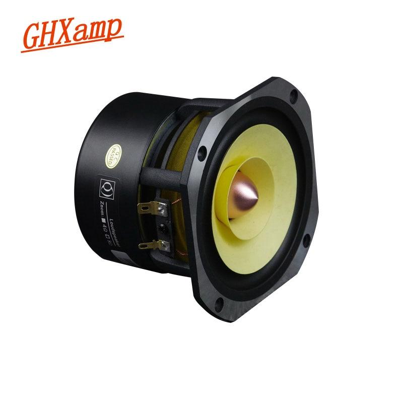Ghxamp 4 inch Full Range Speaker 4ohm 25W Hifi Full Frequency Loudspeaker HomeTheatre 91DB Bullet Rubber