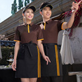 Short  T-shirts  Restaurant  cafe shop  T-shirts    Hot pot tea shop ,fast-food restaurant waiter short sleeved