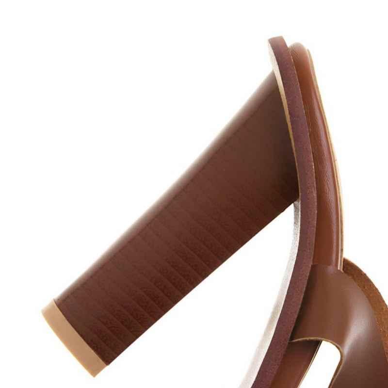 Kemekiss Plus Size 34-48 Zomer Hoge Hak Sandalen Vrouwen Gesp Stijl Schoenen Vrouwen Cross Band Casual Party Mujer sandalen