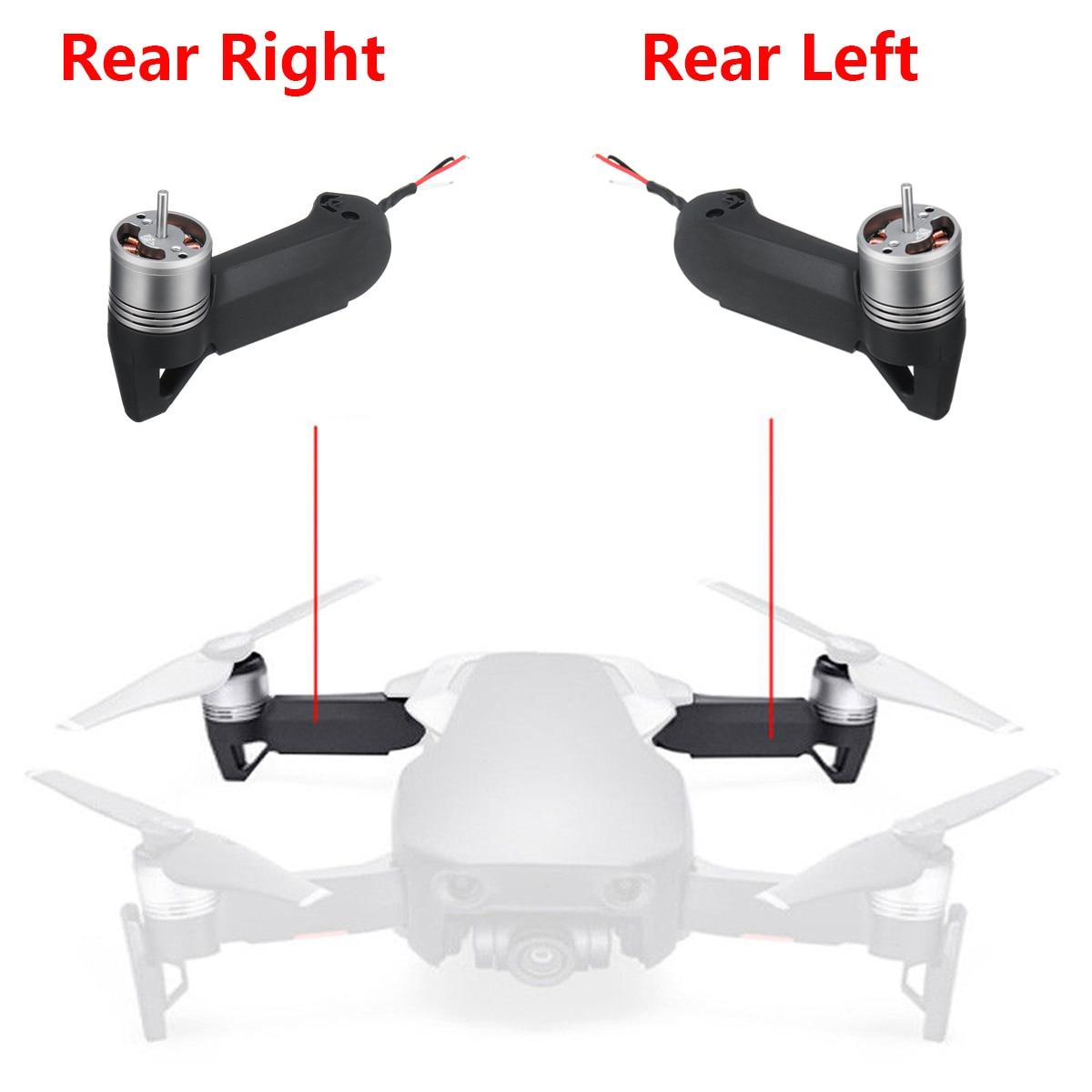 Lewego prawego z powrotem ramię dla DJI Mavic powietrza naprawa dronów części aparatu drony akcesoria metalowe czarne z lotu ptaka zdjęcie