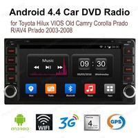Android4.4 автомобиля DVD 1024*600 t/oyota h/ilux V/IOS лет c/Amry c/orolla pr/ado R/AV4 pr/ado 2003 2008 4 ядра dab радио