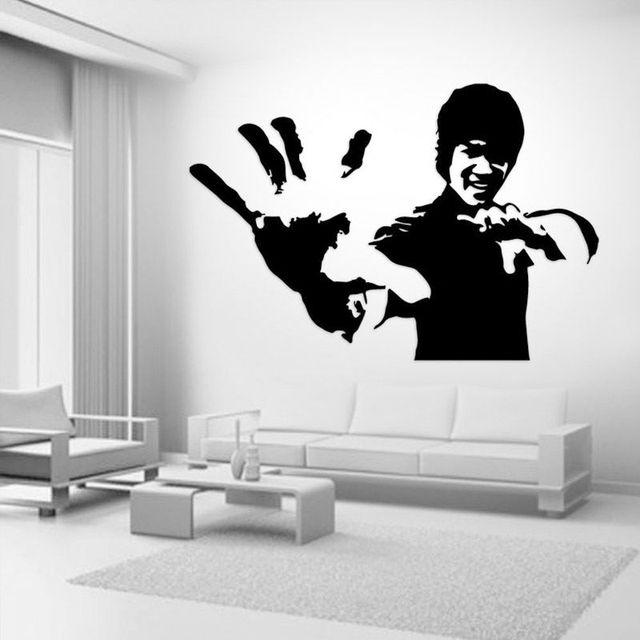 Yoyoyu Wall Decal Karate Star Decal Bruce Lee Wall Sticker Art