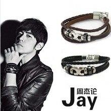 ZRM 20 шт/лот Модные кожаные Jay многослойный браслет тканые звезды ювелирные изделия для мужчин и женщин