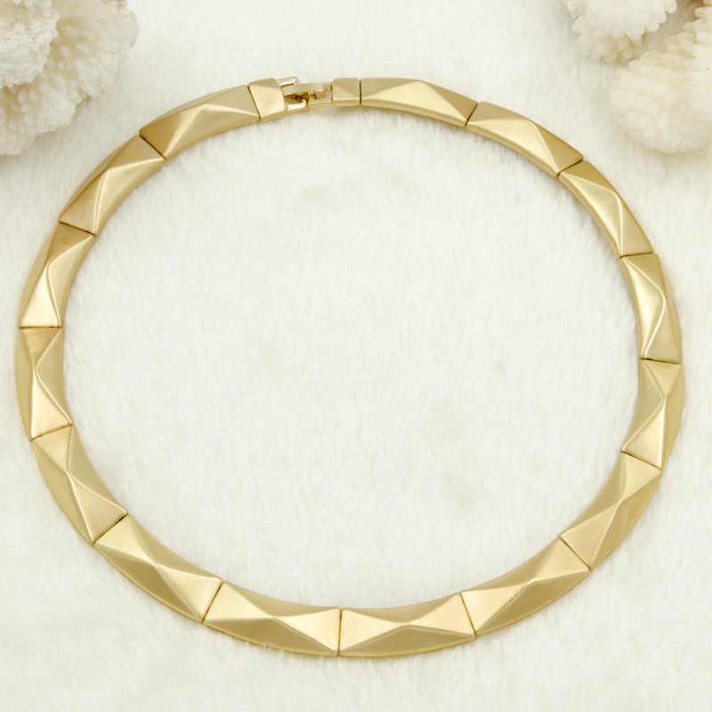 Liffly דובאי אופנה זהב נשים קולר שרשרת טבעת קסם עגילי חתונה אפריקאית כלה תכשיטי סט