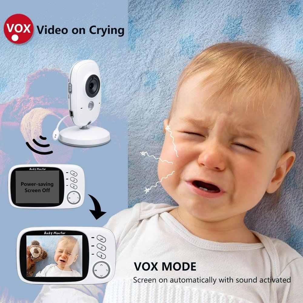 Babykam babyphone аудио 3,2 дюймов TFT lcd ИК ночного видения видеодомофон монитор температуры 8 колыбельных
