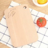 1 Pcs No Paint Beech Wood Fruit Bread Natural Chopping Block Sushi Board Kitchen Antibacterial Easy
