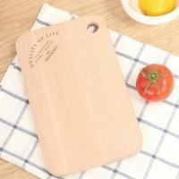1 Pcs No Paint Beech Wood Fruit Bread Natural Chopping Block Sushi Board Kitchen Antibacterial Easy