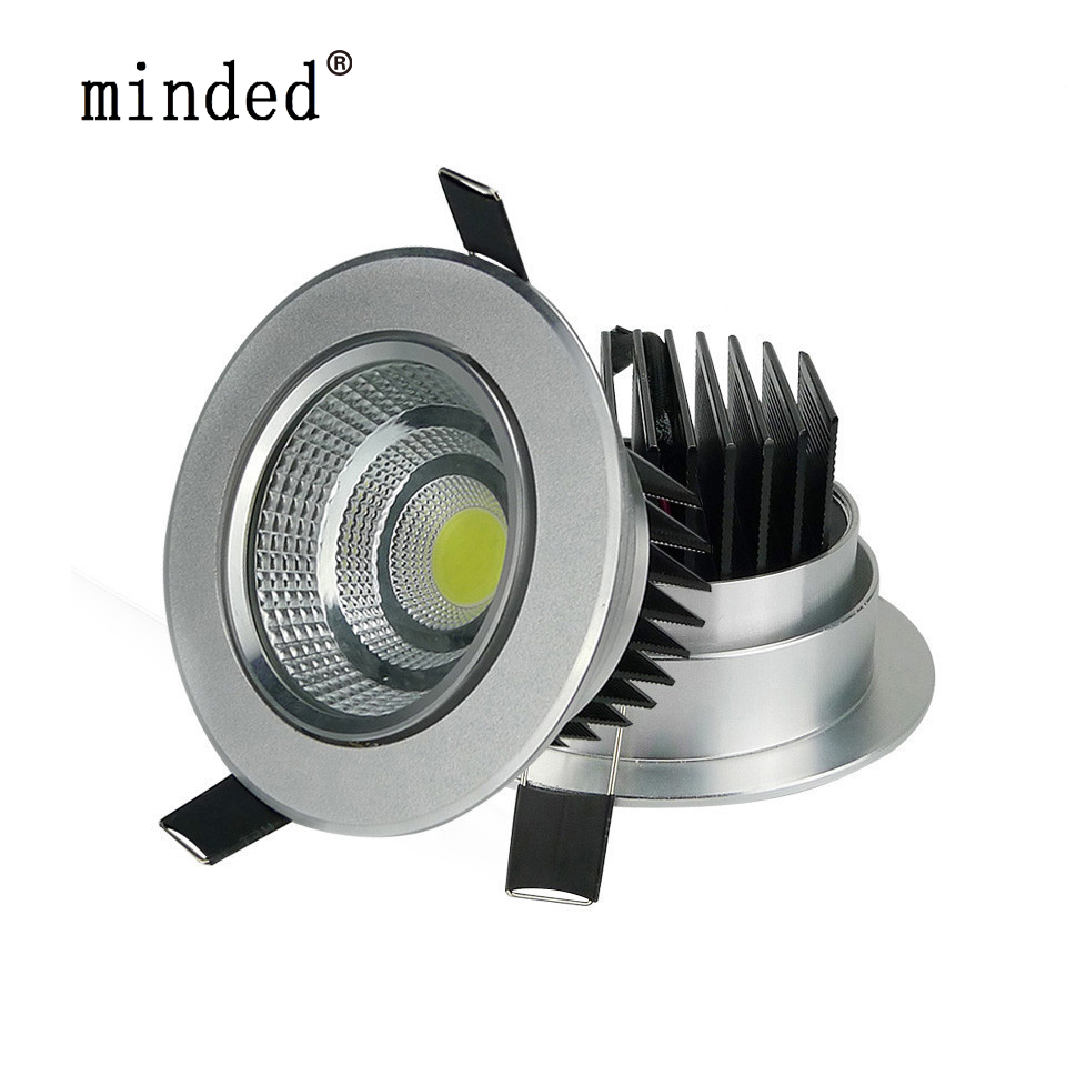 Us 4 99 35 Off Dimmable Mini Led Downlight Cob 220v 110v 20w 10w 5w Spot Led Encastrable Plafond Dimmable Cob Adjustable Led Recessed Downlight In