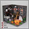 M016 3D Puzzles NEW Hongda Diy Dollhouse Miniature Halloween Wooden Doll House Include Furniture,Light,dust Cover