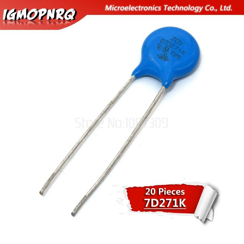 50pcs Varistor 07D271K 270V Piezoresistor 07D271 7D271K