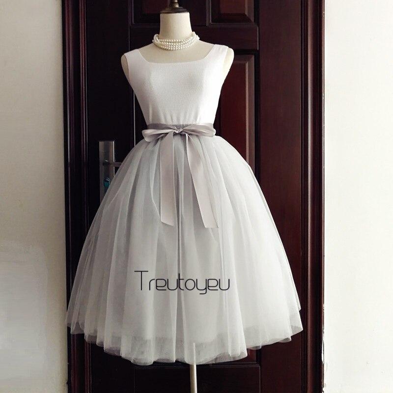 Treutoyeu Store Quality 7 Layers Maxi Long Tutu Tulle Skirt Pleated Skirts Womens Winter Skirt Vintage Lolita Petticoat faldas mujer saias jupe