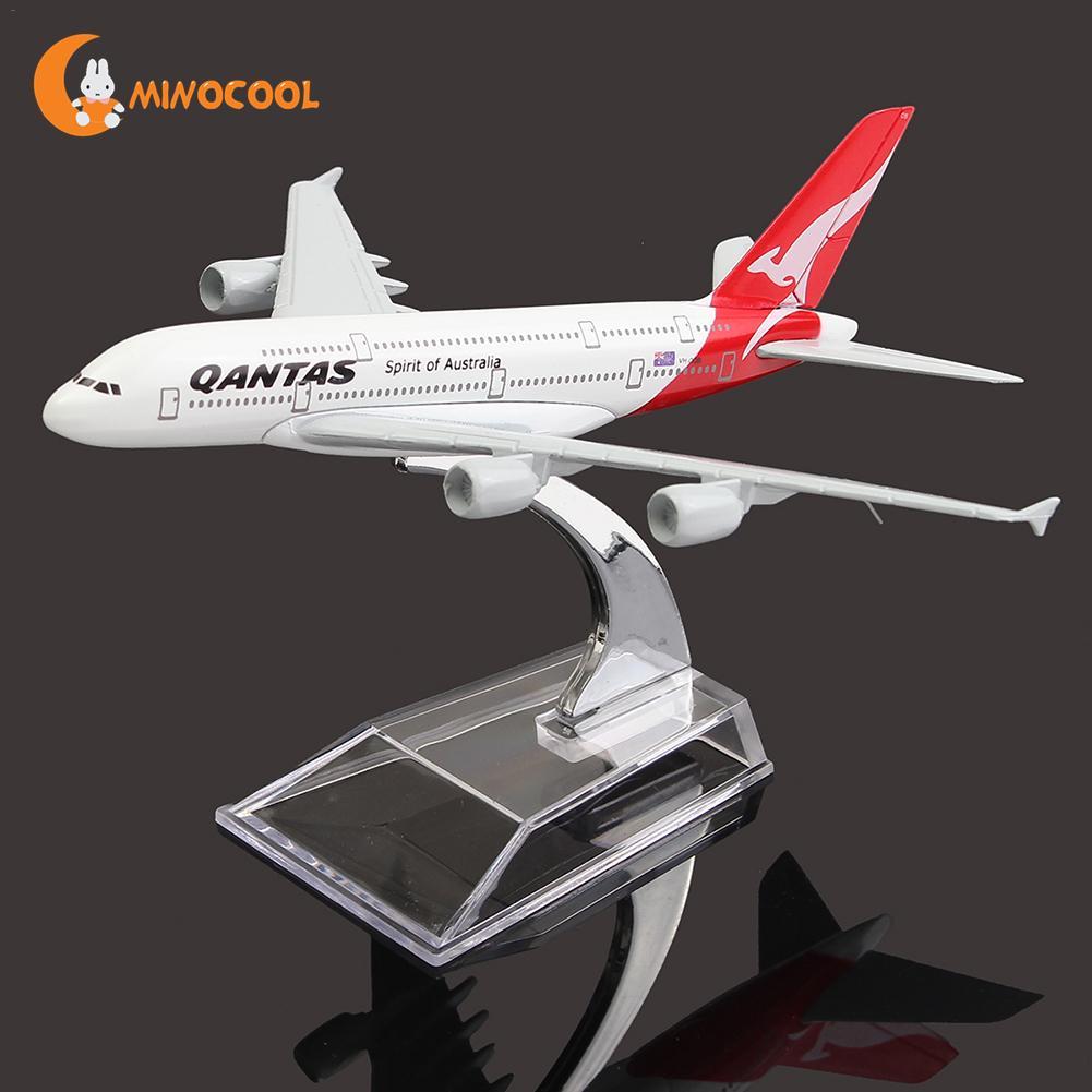 A380 Espana QANTAS colección modelo 16 cm Avión de Metal modelo de avión Kits de construcción de juguete para los niños