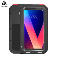 Love mei Aluminum Metal Cover For LG V30 Cases Armor Shockproof Full Body Phone Cover For LG V30 Case 6.0inch