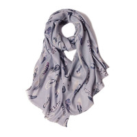 silk cashmere light grey printed women fashion boutique thin scarf shawl pashmina 65x188cm