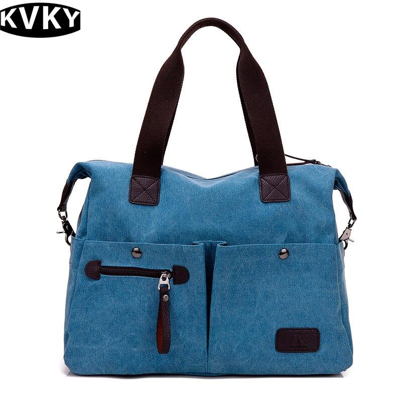 2017 Large Capacity Women Casual Style Canvas Tote Belt Decoration Shoulder Bag New  Shoulder Bag  Sale