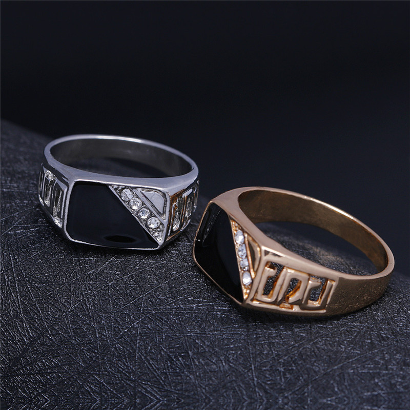 CC Rings For Men Classic Luxury Square Fashion Dripping Oil Ring Cubic Zirconia Bridegroom Wedding Engagement Bijoux CC2131 3