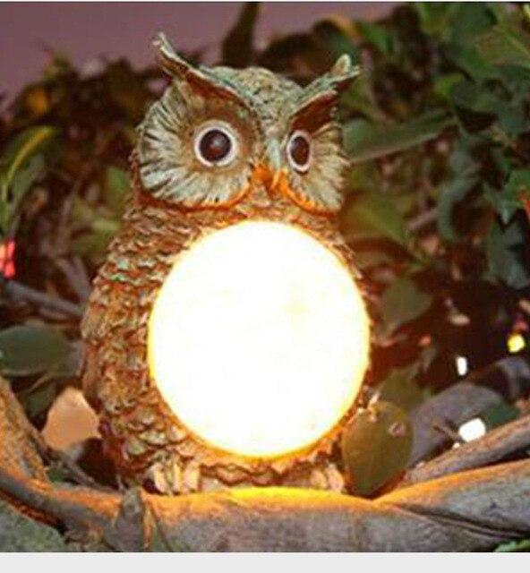 Superbe Viosliteled Outdoor Light Control Solar Resin Lamp Garden Light Plastic Owl  Lamp Villa Garden Lamp