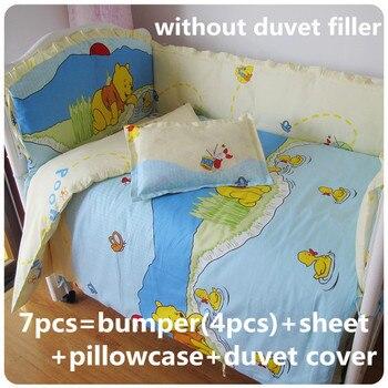 Promotie! 6/7 stks spiekbriefjes, bedding set voor meisjes 100% katoen wieg beddengoed, 120*60/120*70 cm