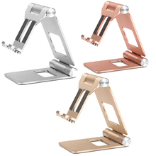 New Foldable Aluminum Stand for Smartphone Tablet PC Dual Pu