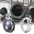 """7"""" Chrome Round Motorcycle Daymaker LED Headlight Mounting Ring Bracket for Harley"""