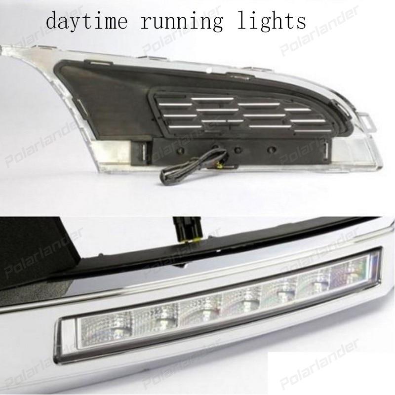 1 set auto parts Car styling for V/olkswagen P/olo 2011-2015 Turn signal 12V LED Car DRL Daytime running lights fog lamp