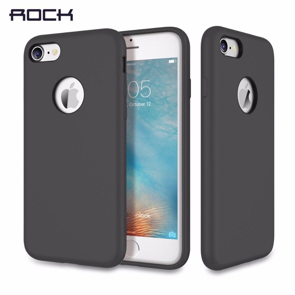 imágenes para Original rock cubierta para iphone 7/7 plus case touch serie tpu silicona case para iphone 7 plus cubierta sensación sedosa a prueba de golpes