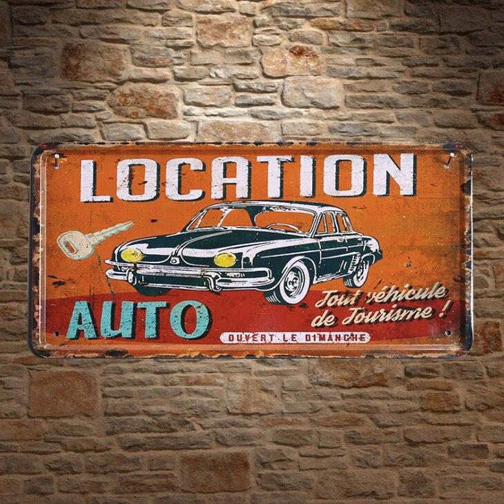 Tin Sign Nostalgic Car Retro old pickup USA Wall Vintage Decoration Metal Plate
