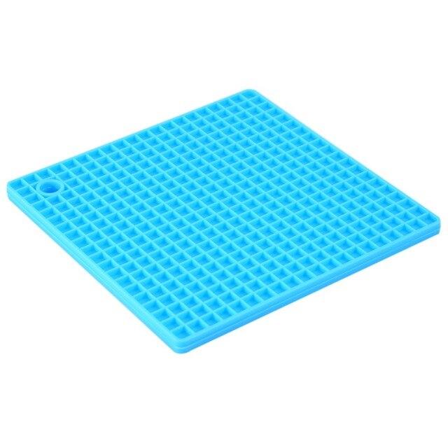 W 7-inch Silicone Pot Holder, Trivet Mat,jar Opener,spoon Rest Non Slip, Flexible, Durable, Heat Resistant Hot Pads new