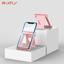 RAXFLY Phone Holder Mobile Cellphone Desk Stand For iPhone Pad Tablet PC Bracket Computer Heart Shape Holder Stent soporte movil jolly roger microphone for cellphone tablet pc musical instrument and computer