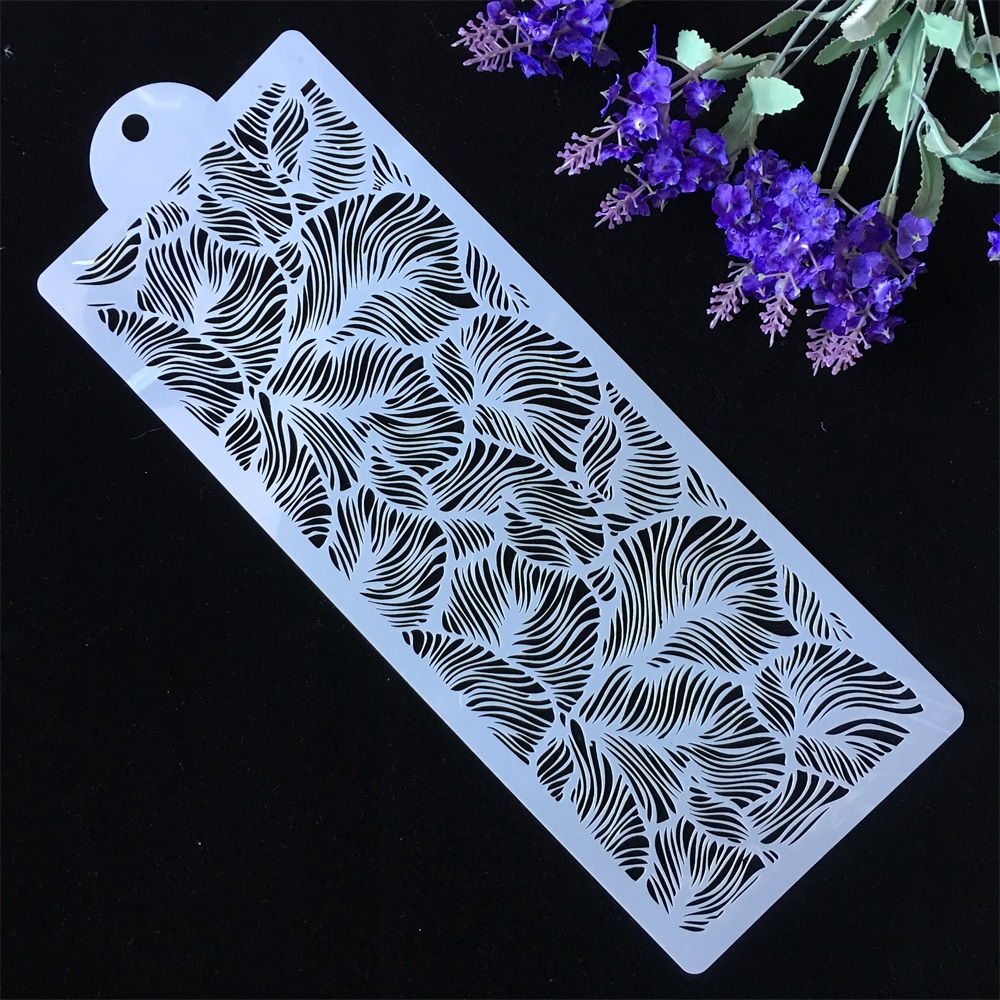 44cm Flower Leaf Texture DIY Layering Stencils Painting Scrapbook Coloring Embossing Album Decorative Paper Card Template