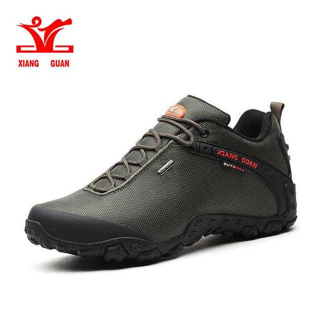 XIANG GUAN Man Outdoor Hiking Shoes fishing Athletic Trekking Boots Women Climbing Walking Sneskers large SIZE EUR 36-48