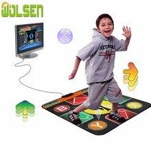 WOLSEN, 16 бит, танцевальный коврик, для детей, один, танцевальный коврик для ТВ, танцор, революция 168, песни, нескользящее, танцевальное одеяло с американской вилкой