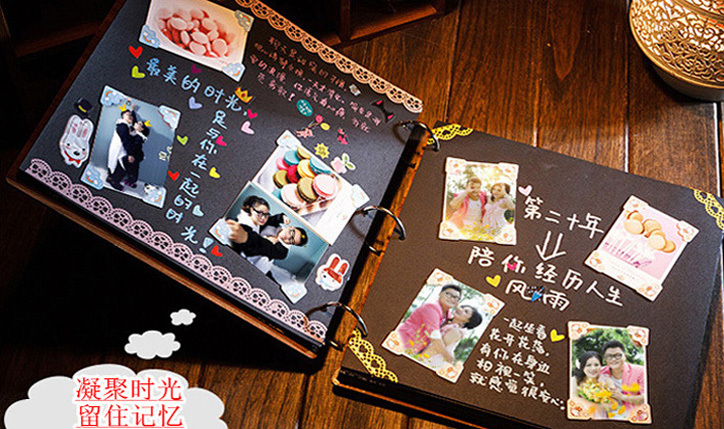 Super 10 inch Diy Wedding Photo Album Scrapbooking Albums Scrapbook Kit  UV68