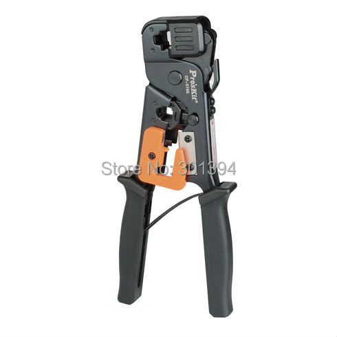 Free Shipping ProsKit CP-376E Low Carbon Steel Network Crimping Tool (200mm) Crimper Pliers Crimping Tool Cable Stripping Cutter