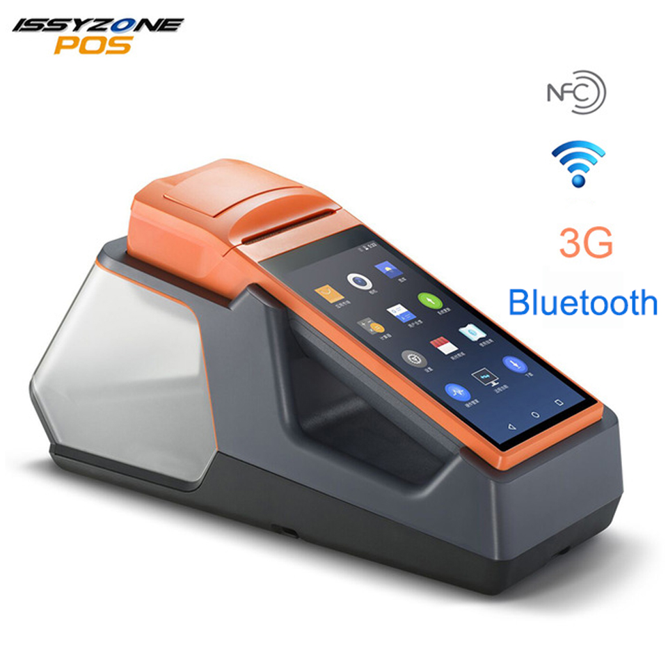 ISSYZONEPOS Android PDA Mobile POS Terminal Thermal Printer Handheld PDA Bluetooth Barcode Scanner Thermal Printer Sunmi