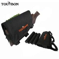 Tourbon Hunting Gun Accessories Tactical Left Hand Shooting Gun Butt Stock Rifle Cheek Rest Shell Pouch