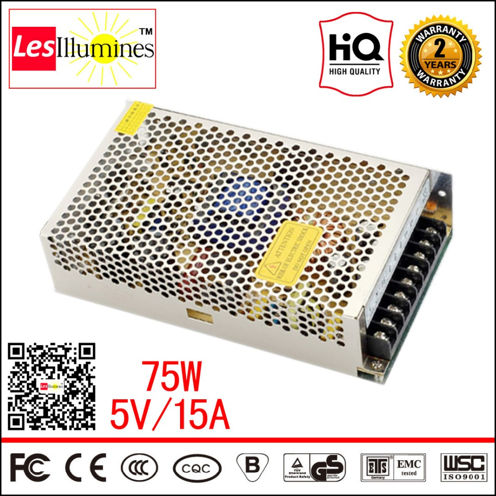 S-75-5 SMPS Circuit Meanwell Power Suply AC 110 220V to 5V DC Voltage Converter CE Switching Power Supply 5V 15A 75W LED Driver meanwell 12v 75w ul certificated nes series switching power supply 85 264v ac to 12v dc
