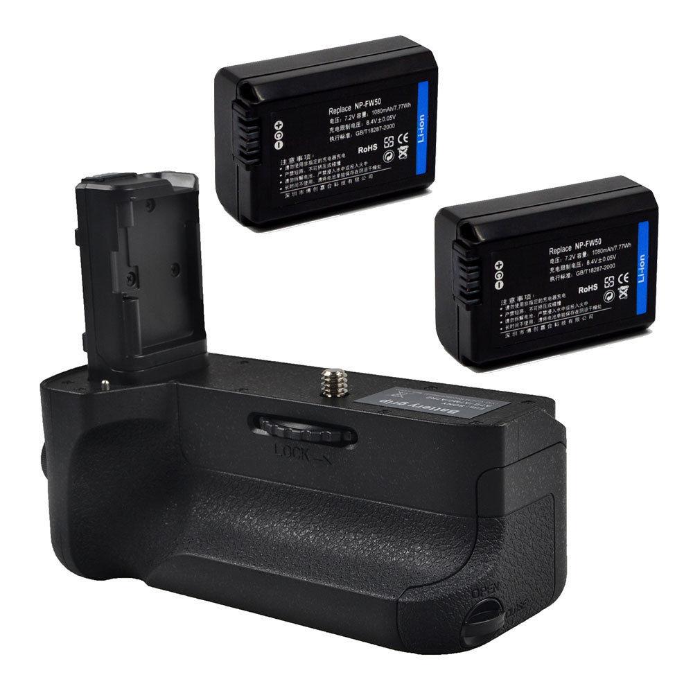 JINTU Мощность Батарейная ручка обновления держатель + ИК-пульт дистанционного + 2 шт. NP-FW50 комплект для SONY A7II A7RII A7SII DSLR беззеркальных Камера ...