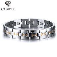 CC Đơn Giản Vòng Tay Cho Nam Giới Chăm Sóc Sức Khỏe Nam Châm Bangle Men của Bracelet Chiều Dài Điều Chỉnh Thép Không Gỉ Trang Sức Bijoux SBRM-018