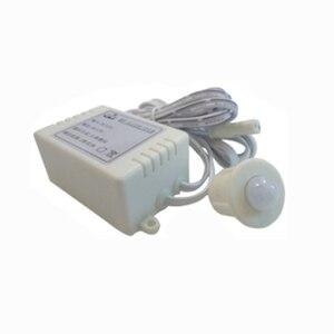Автоматический ПИР spilt переключатель датчика движения для светодиодной панели, светодиодной ленты, постоянного тока 12 В 3 А