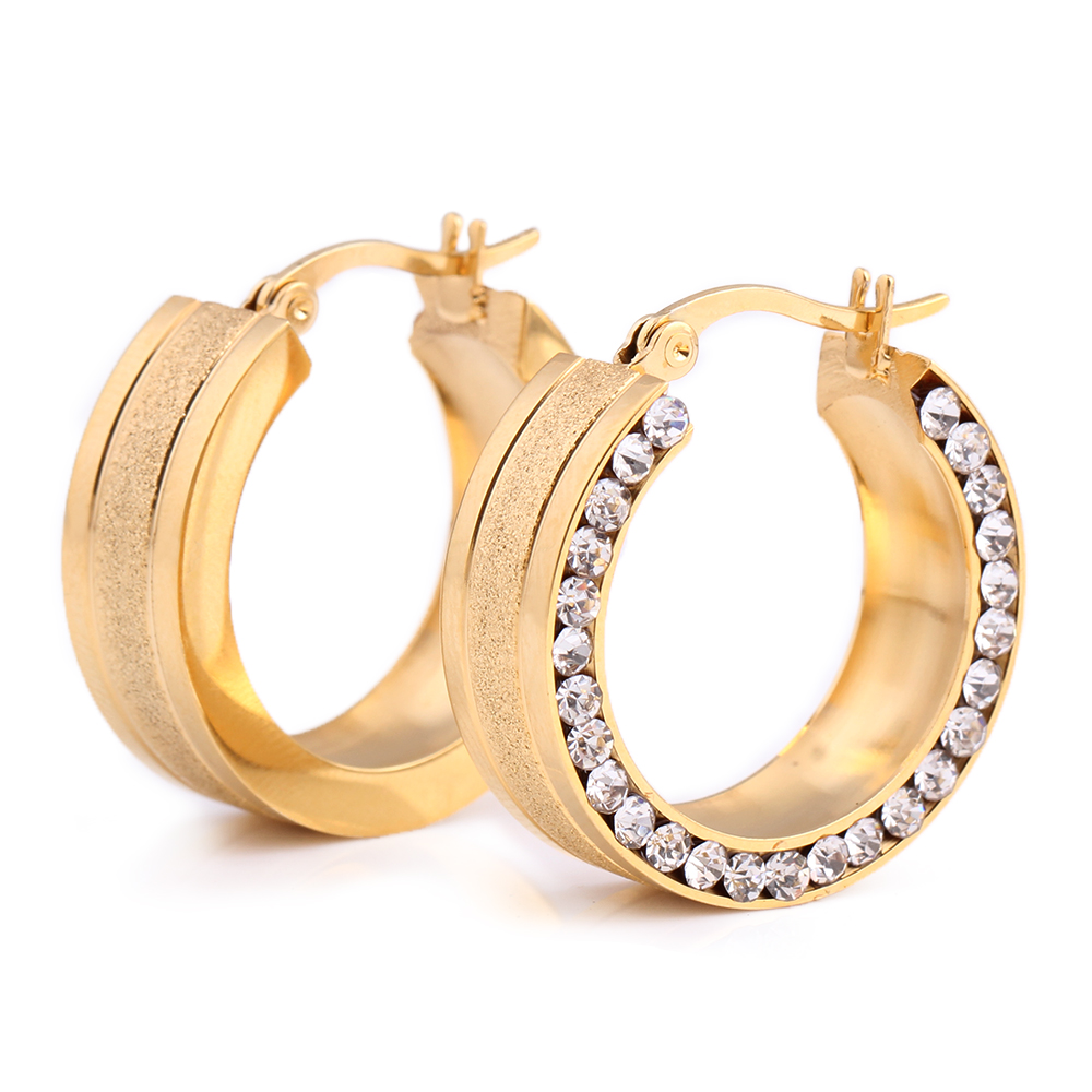 cheap gold earrings buy wholesale gold huggie earrings from china gold 2153