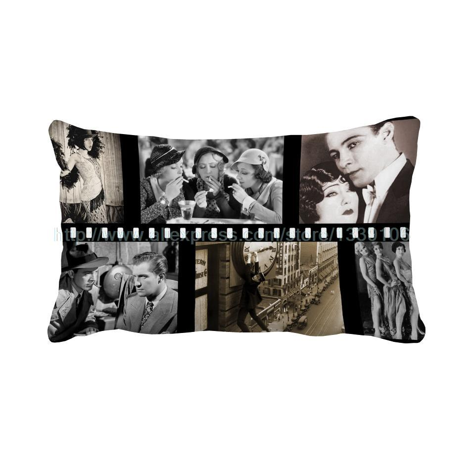online buy wholesale unique throw pillows from china unique throw  - xcm old movie clip print custom vintage chair bed cushions home decorunique sofa throw decorative