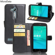 MicroData Luxury PU Leather Flip Case For Asus Zenfone GO ZB500KL ZB500KG Wallet Stand Leather Case Cover On ZB500KL ZB500KG